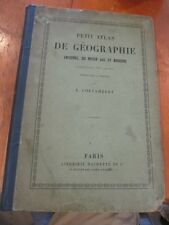RARE PETIT ATLAS DE GEOGRAPHIE 51 COLORED MAPS E. CORTAMBERT CA 1880