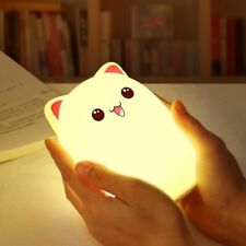 Night Lamp Bedroom Cat Night Light Rechargeable Touch Sensor Children Cute