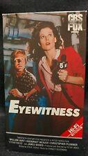 Eyewitness (1984) VHS /Sigourney Weaver/William Hurt/Peter Yates/CBS Fox/Mint!