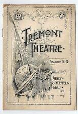 1897 -Tremont Theatre Program-Boston- Gus Daly - vg local local ads- Jamaica