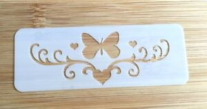 Face painting stencil reusable washable butterfly & heart glitter henna tattoo