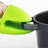 1 Pair Heat Resistant Silicone Glove Grip Oven Pot Holder Baking BBQ Cook Mitt