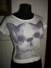Tee shirt manche courte COMPTOIR DES COTONNIERS 10 ans bouledogue coton fin blan
