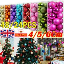 48Pcs/2Pack Christmas Tree Xmas Balls Decorations Baubles Wedding Party Ornament