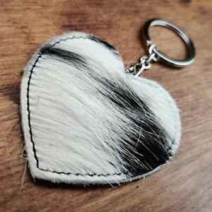 Genuine Cowhide Key Ring / Bag Charm