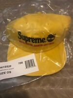 Supreme Timberland 6 Panel Hat Yellow NWT SOLD OUT!