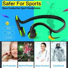 Sports Outdoor Bone Conduction Headphones Wired Earphone Stereo Headset&Mic I0V9