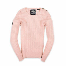 Superdry Damen Pullover Sweater Strick Gr.40 Premium Knitwear Rosa 94246
