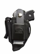 Hip Belt Gun Holster for Ruger LCP-380 Pistol With Built-in Extra Magazine Pouch