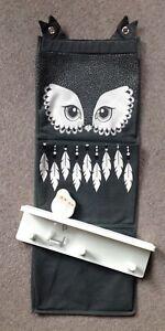 H&M owl pocket door hanger and Ikea owl shelf with pegs