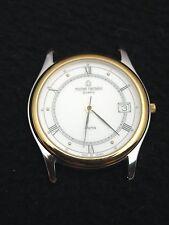 Vintage French Michel Herbelin Men's Watch Stainless Steel Gold Swiss 7 Jewel