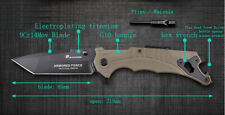HX OUTDOORS ZD-025A multifunction tools Knife Tan G10 Tanto blade