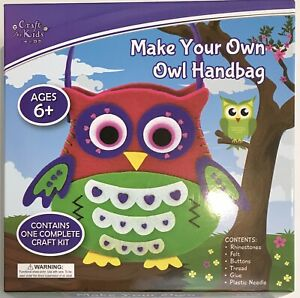 """Craft for Kids """"Make Your Own Owl Handbag"""" Contains One Complete Craft Kit (NEW)"""