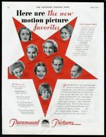 1931 Tallulah Bankhead Carole Lombard photo Paramount Pictures vintage print ad
