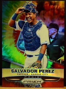 2015 Panini Prizm #13 SALVADOR PEREZ Kansas City Royals Tie Dye Refractor 12/50
