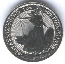 Gran Bretaña 2 Libras 2017 una onza de plata pura