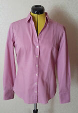 Versatile, pink striped Austin Reed 100% cotton ladies fitted shirt size 12, new