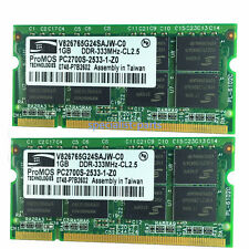 New 2GB 2X1gb  pc2700 DDR-333mhz 200pin pc2700 DDR1 laptop memory Ram SODIMM