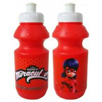 MIRACULOUS LADY BUG PLASTIC SPORT CAP BOTTLE JUICE DRINK WATER TRAVEL KID RED