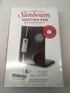 Sunbeam 002013-511-000 Xpressheat Heating Pad, Burgundy, 12 x 24-inches