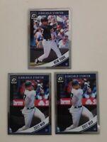 Giancarlo Stanton 2018 Donruss Optic Base & Variation #109 (3) Card LOT Yankees