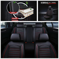 Luxury Edition PU Leather Car Rear + Front Seat Cover Set w/Pillows All Seasons