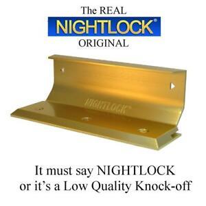 NEW Door Barricade NIGHTLOCK Security Lock BRIGHT BRASS FINISH