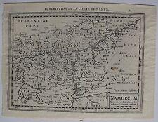 DESCRIPTION DE LA COMTE DE NAMUR. Mercator Hondius, carte originale de 1630. Dim