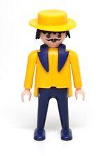 Playmobil Figure Victorian Street Market Vendor w/ Yellow Hat