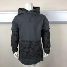 George Boys Grey Black Camo Hooded Sweatshirt Jumper UK Age 5-6 Years