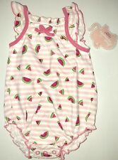 First Moments Kohl's Watermelon One Piece Bodysuit Baby Girls Size 6 Months NWT