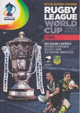 RUGBY LEAGUE WORLD CUP 2013 FINAL NEW ZEALAND v AUSTRALIA MINT PROGRAMME