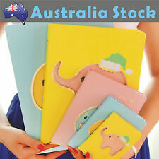 NEW Cute Elephant 4 Colors 3 Sizes Dairy Note Book Memo Planner To Do List