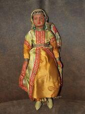 "Vintage poupée SNF celluloïd poupée France Casablanca Maroc Costume Poupée 1930 S 11"""