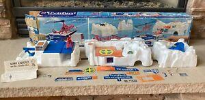 Mattel Vertibird Polar Adventure 1974 Vintage Helicopter Toy Set TESTED WORKS!
