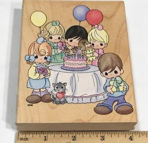 Stampendous Precious Moments Birthday Party Rubber Stamp UR003