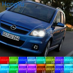 Multi-Color LED Angel Eyes Halo Rings for Opel Zafira Vauxhall Zafira 2005-2014