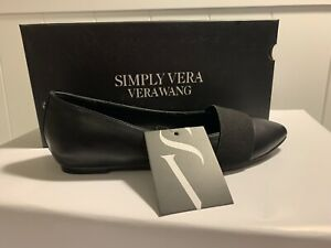 Vera Wang Belle Pointed Toe Ballet Flat Black Size 7 *BRAND NEW