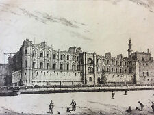 Henri Saffrey Yveline Chateau Saint Germain en Laye Roi de France eau-forte XIX