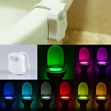 Sensor de detección de movimiento automático asiento LED de luz WC Bowl 9 Color