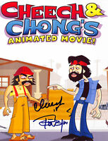 Cheech Marin & Tommy Chong Animated Movie Authentic Signed 8x10 Photo BAS E85511
