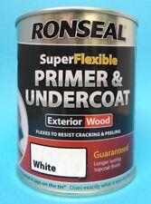 Ronseal WHITE Superflexible Primer/Undercoat 750ml - *10 YEAR GUARANTEE*