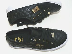 NEW*  Stunning G by Guess quilted sneakers shoes black many sizes available