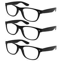 3x Lesebrille schwarz Lesehilfe Sehhilfe Kunststoff Brille Vollrahmen 1,0 - 4,0