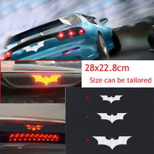 3D Carbon Fiber Adhesive SUV Car Batman Brake Tail Light Vinyl Sticker Decal Top