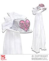 Bride To Be Mini Top Hat & Veil Hen Do Wedding Party Fancy Dress Accessory