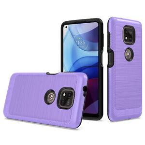 Motorola Moto G Power 2021 Case Slim Shockproof Cover +Tempered Screen Protector