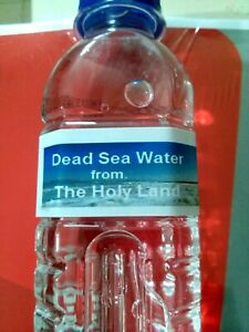 dead sea water 260ml rich minerals 100% natural 100% pure from the lowest earth