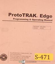 Southwestern Proto Trak Edge, Programming & Operations Manual 2004