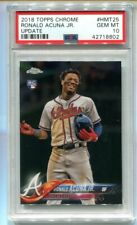 2018 Topps Chrome Update Ronald Acuna Jr. RC #HMT25 PSA 10 Gem Mint 💎